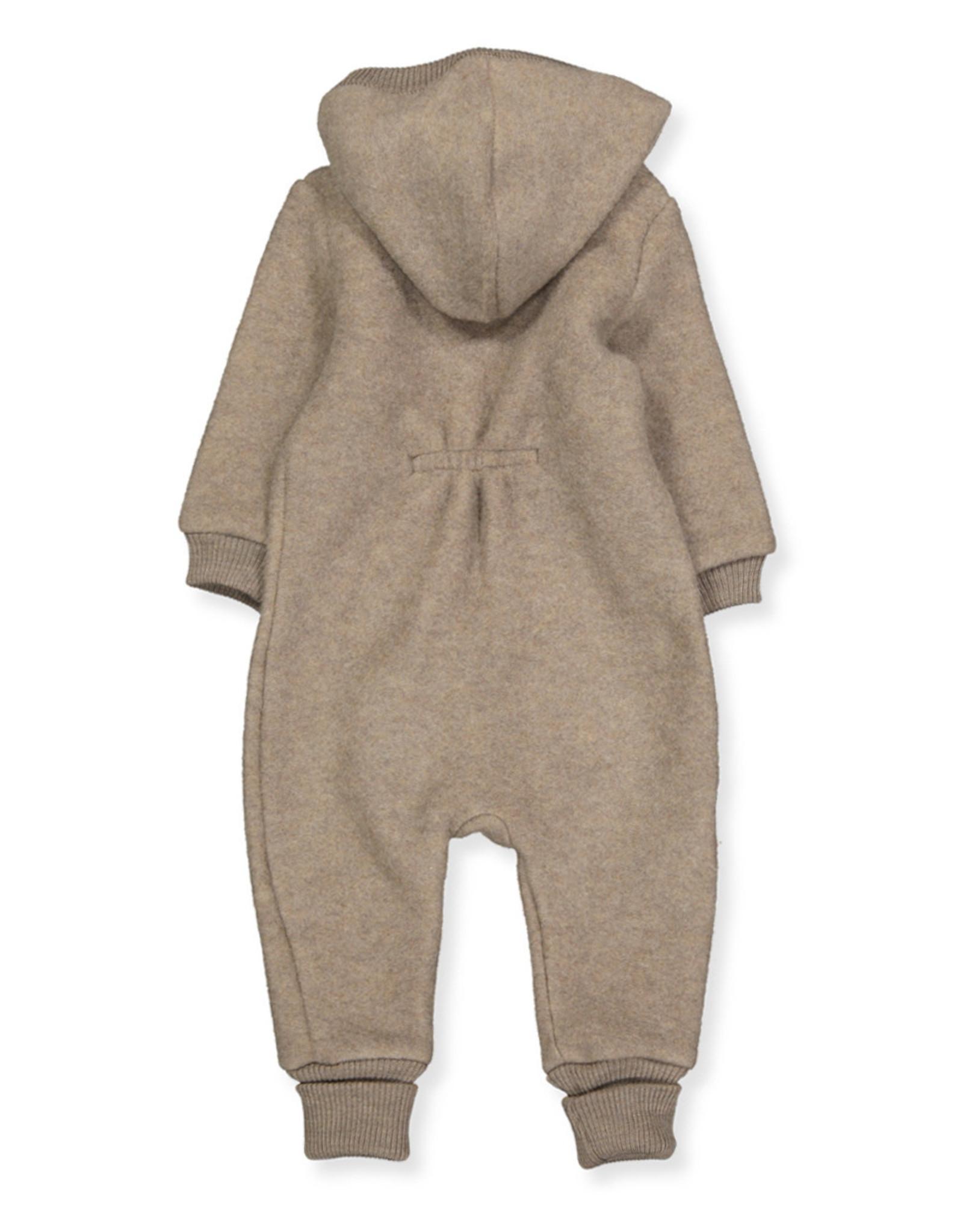 Mikk-Line Mikk-Line wollen baby pakje met capuchon Melange Denver