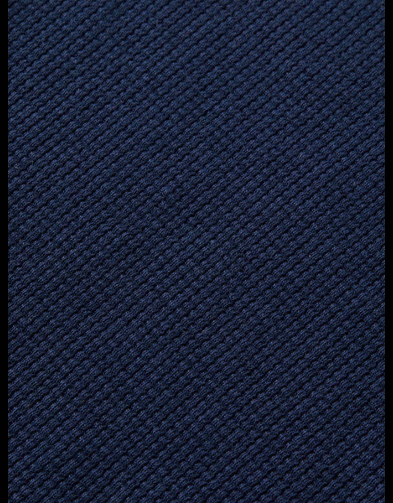 Scotch Shrunk Scotch Shrunk navy shirt met wafelpatroon