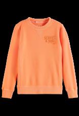 Scotch & Soda Scotch Shrunk sweater met opdruk in Washed Coral