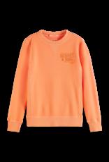Scotch Shrunk Scotch Shrunk sweater met opdruk in Washed Coral