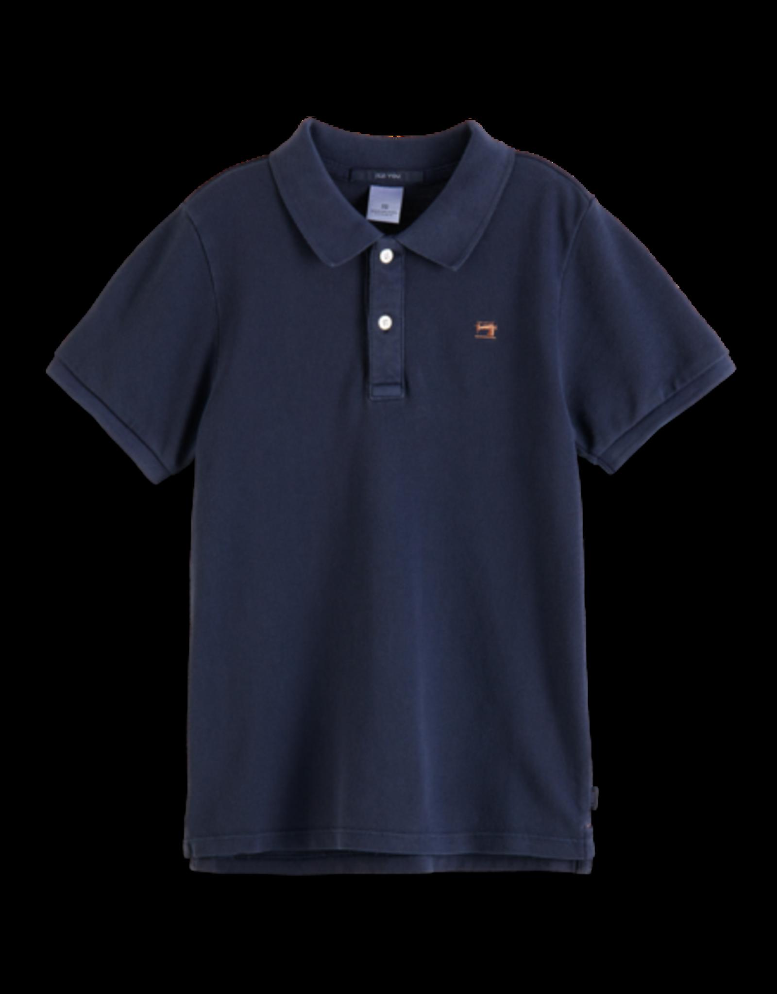 Scotch & Soda Scotch Shrunk navy polo shirt