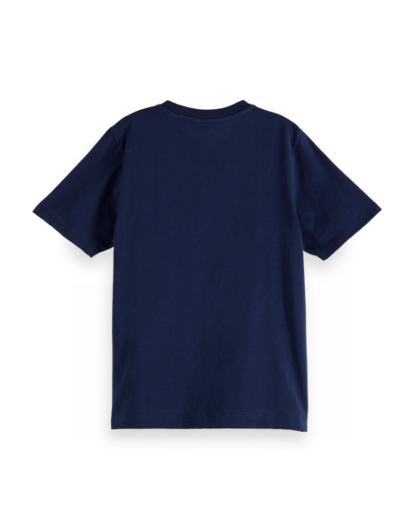 Scotch Shrunk Scotch Shrunk navy t-shirt met borstzakje