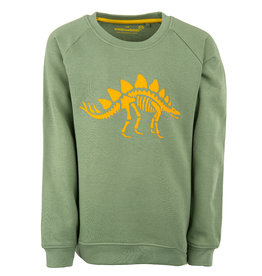 Stones and Bones Stones and Bones 'Imagine' Dino khaki sweatshirt