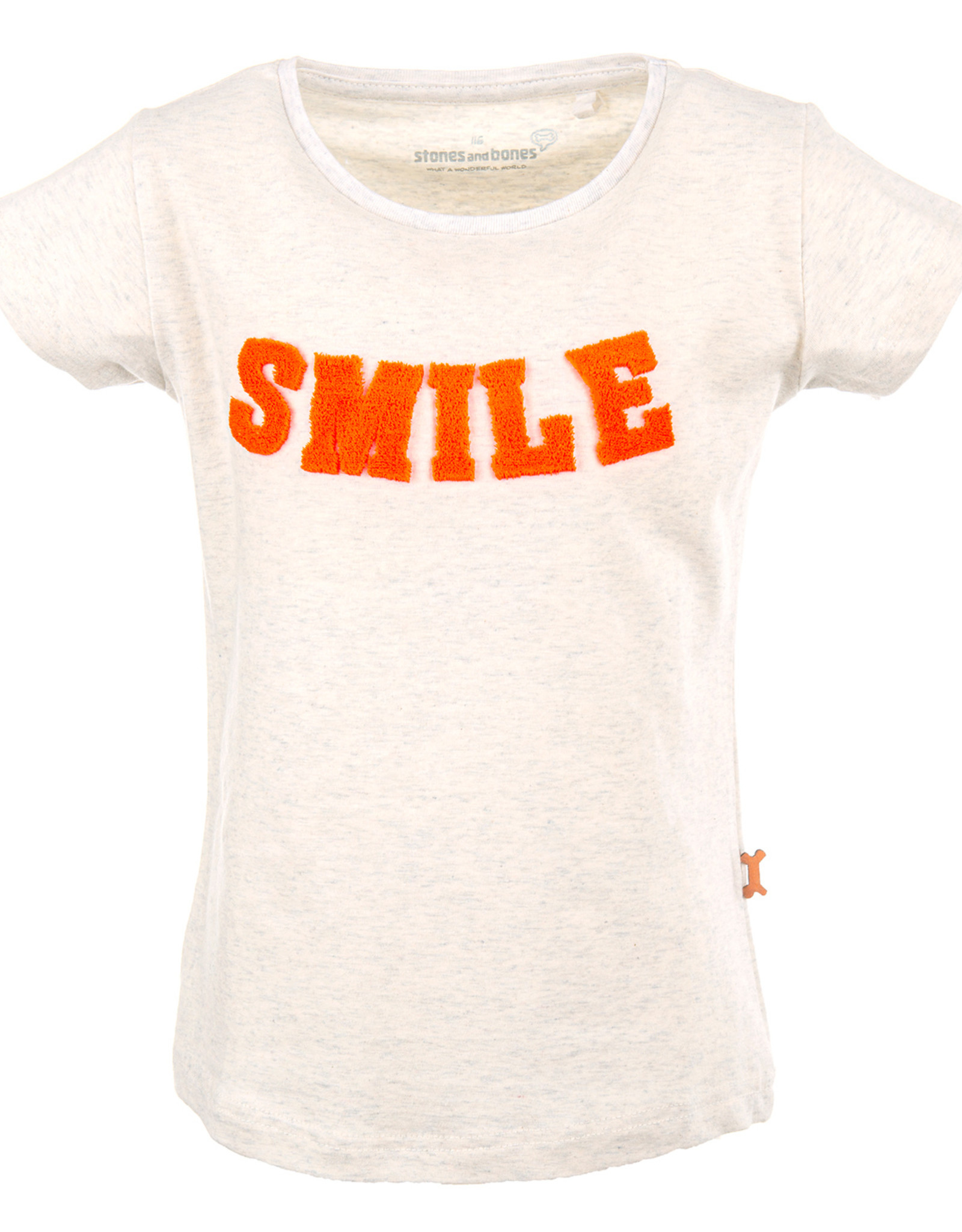 Stones and Bones Stones and Bones 'Camille' Smile ash t-shirt