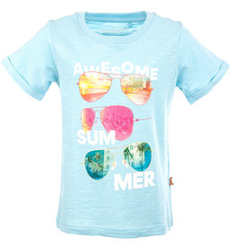 Stones and Bones Stones and Bones 'Josey' Awesome Summer sky blauw t-shirt