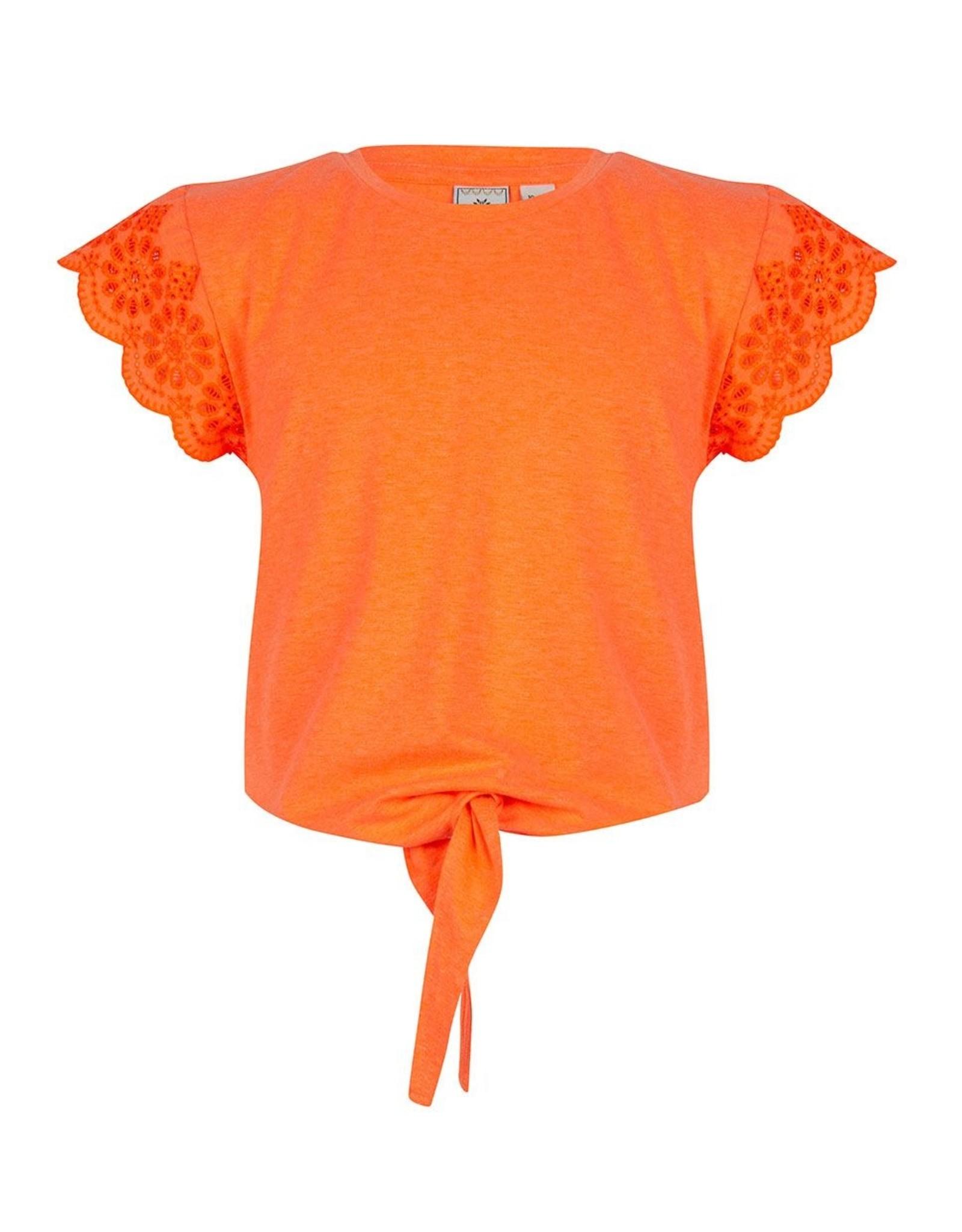 Indian Blue Jeans IBJ t-shirt broderie bright orange