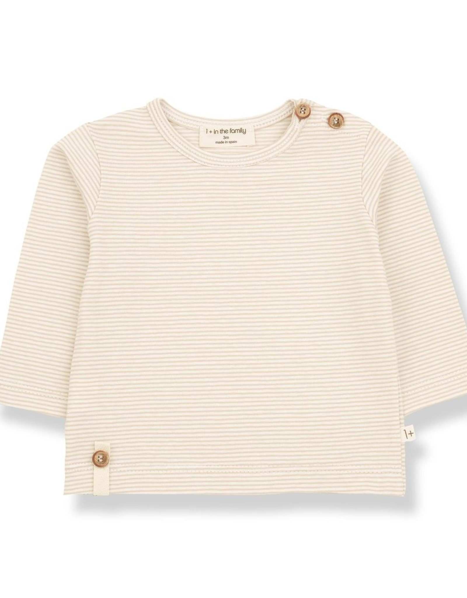 1+ In The Family 1+ in the Family ODON t-shirt met lange mouwen beige