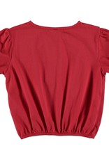 Bonmot Organic Bonmot Organic rood cropped t-shirt 'Bonmot'