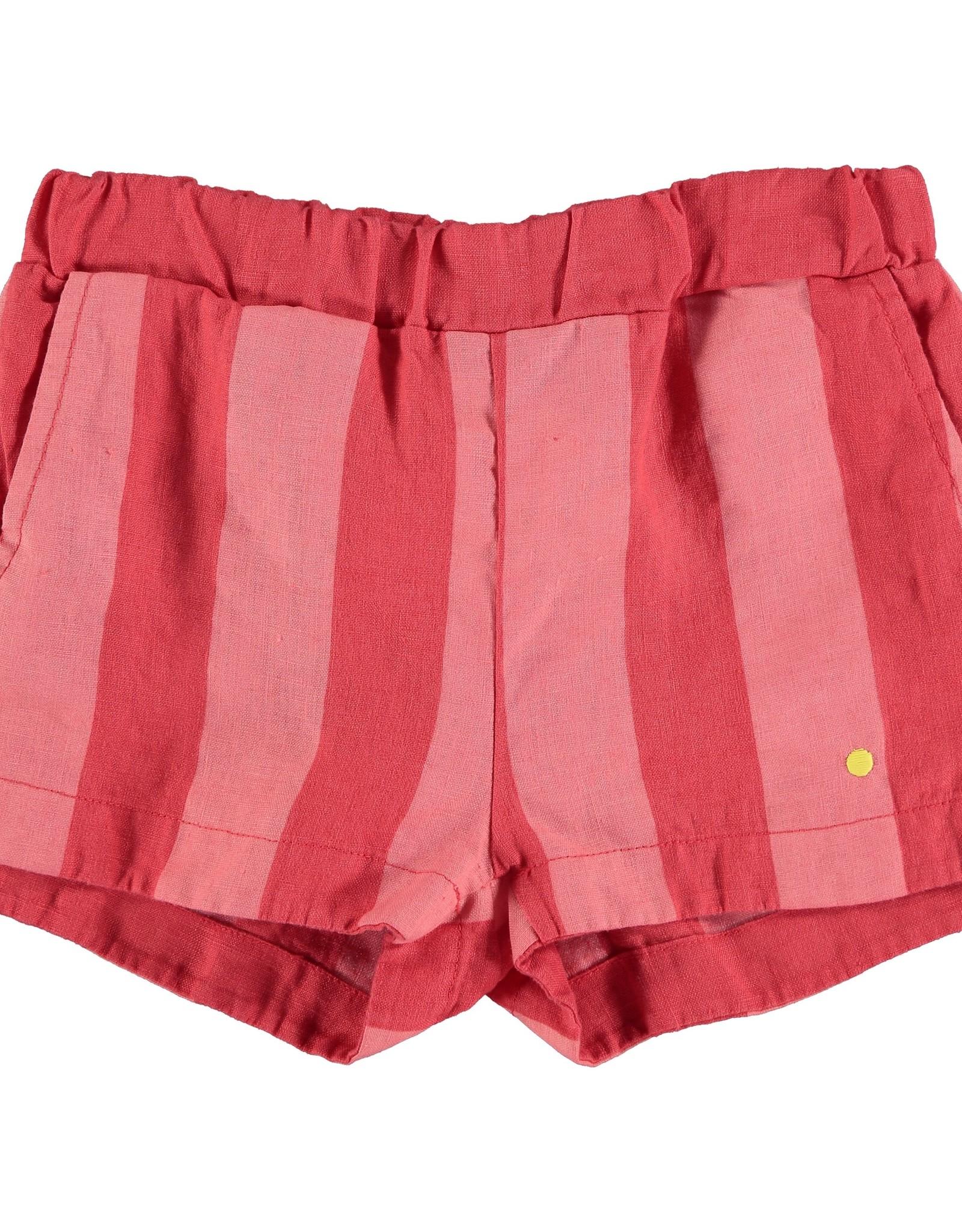 Bonmot Organic Bonmot Organic gestreept rood linnen broekje