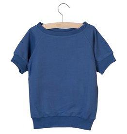 Little Hedonist Little Hedonist Ciska sweatshirt met korte mouwen indigo