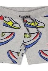 Sturdy Sturdy grijze sweatshort met sneakerprint