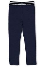 Jubel Jubel navy legging met gestreepte tailleband