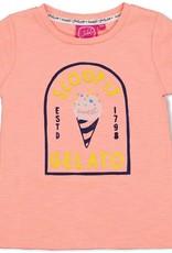 Jubel Jubel koraalroze t-shirt met gelato opdruk