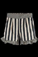Scotch R'Belle Scotch R'Belle linnen broekje met roesje zwart/beige