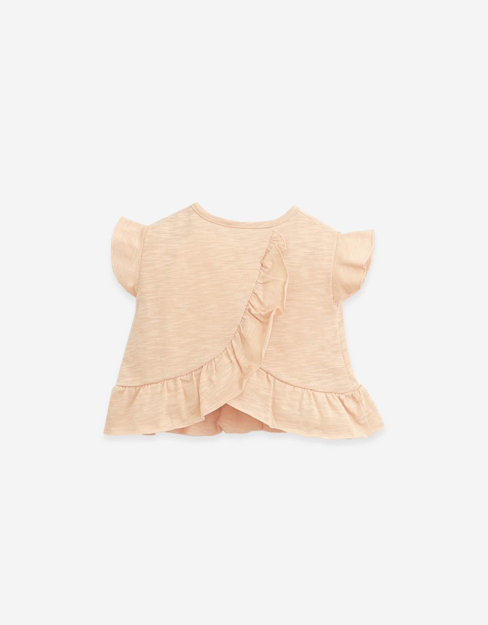 Play Up Play Up t-shirt met ruches egg (lichtroze)