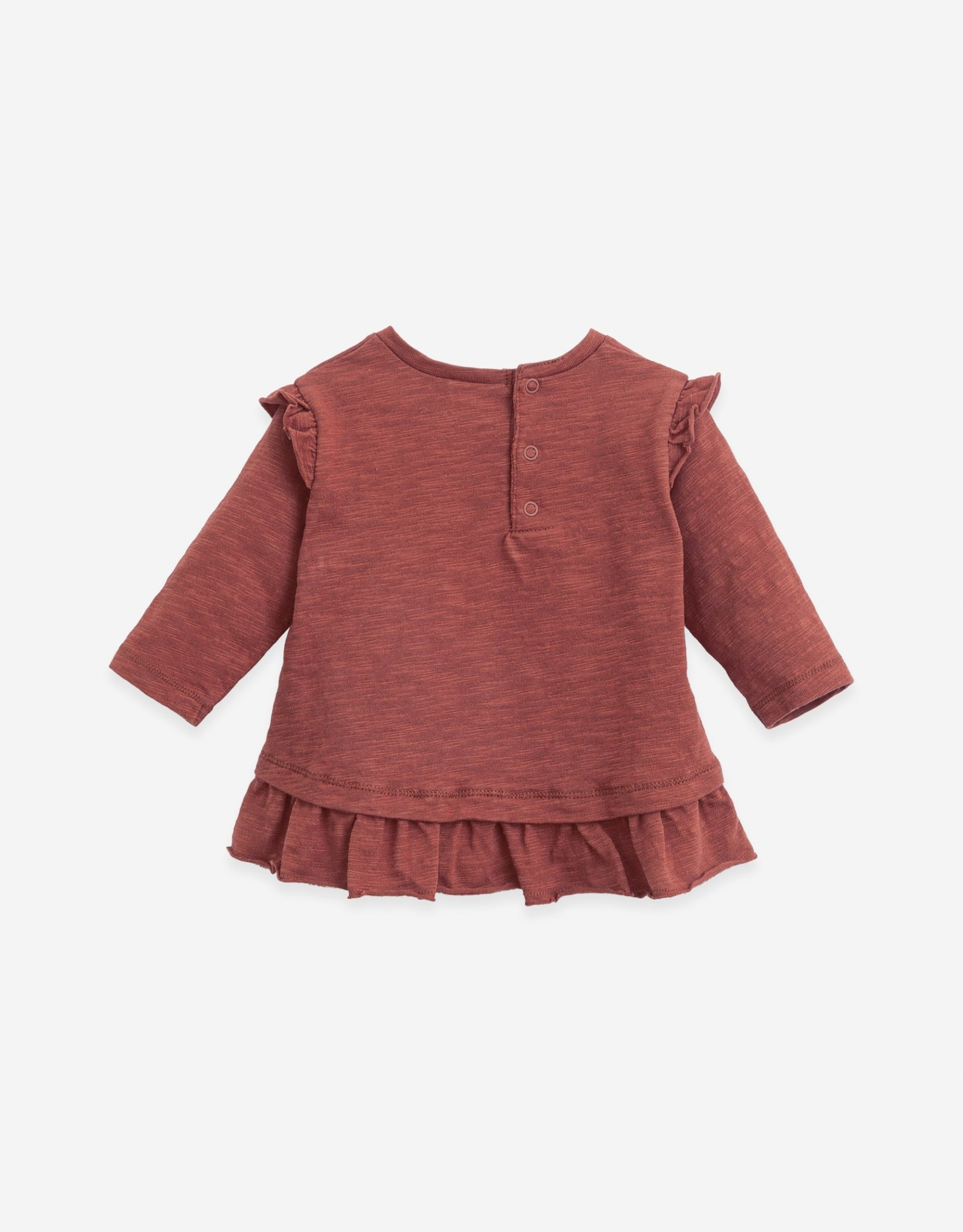 Play Up Play Up t-shirt met lange mouwen en ruches farm (roest)