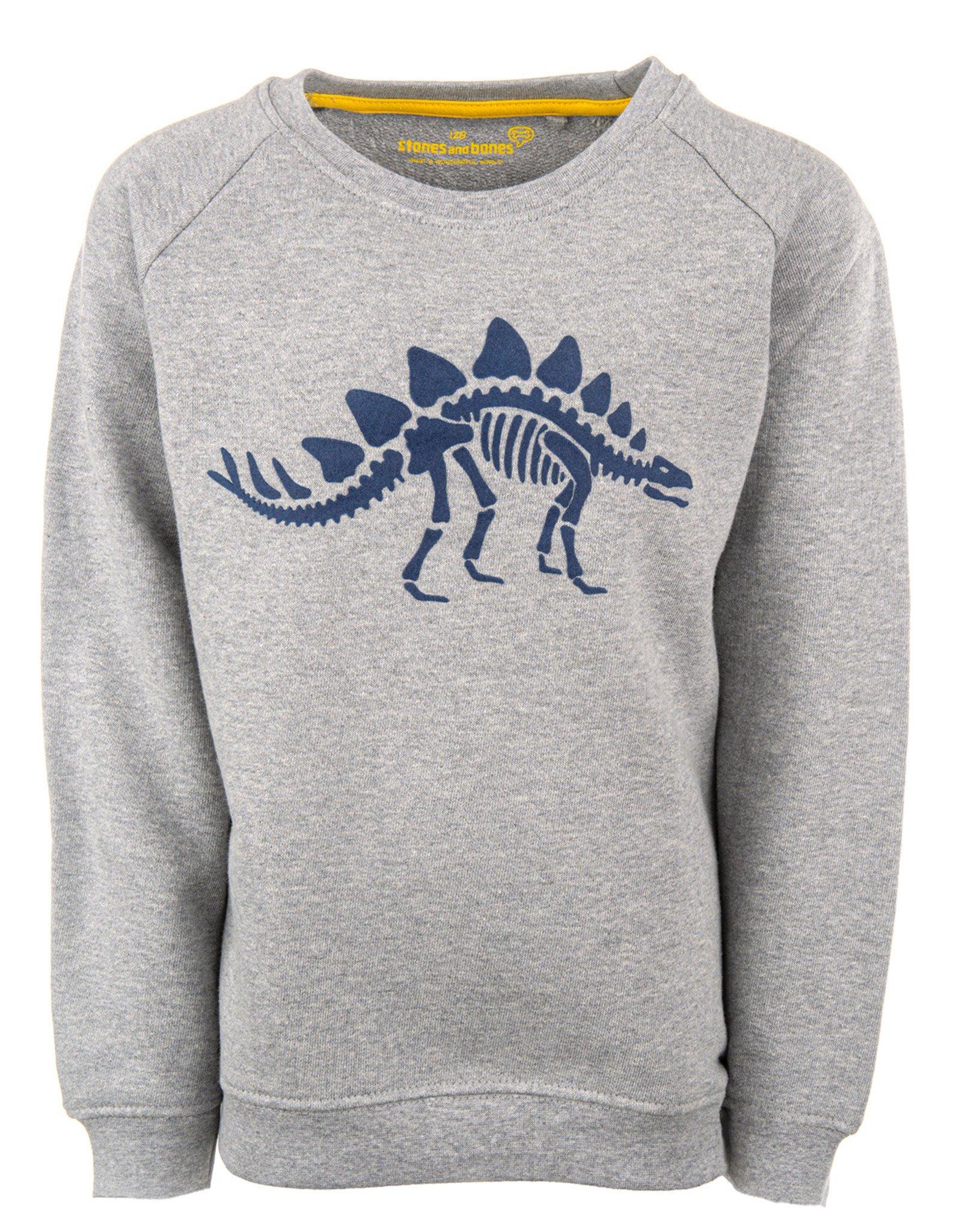 Stones and Bones Stones and Bones 'Imagine' Dino grey sweatshirt