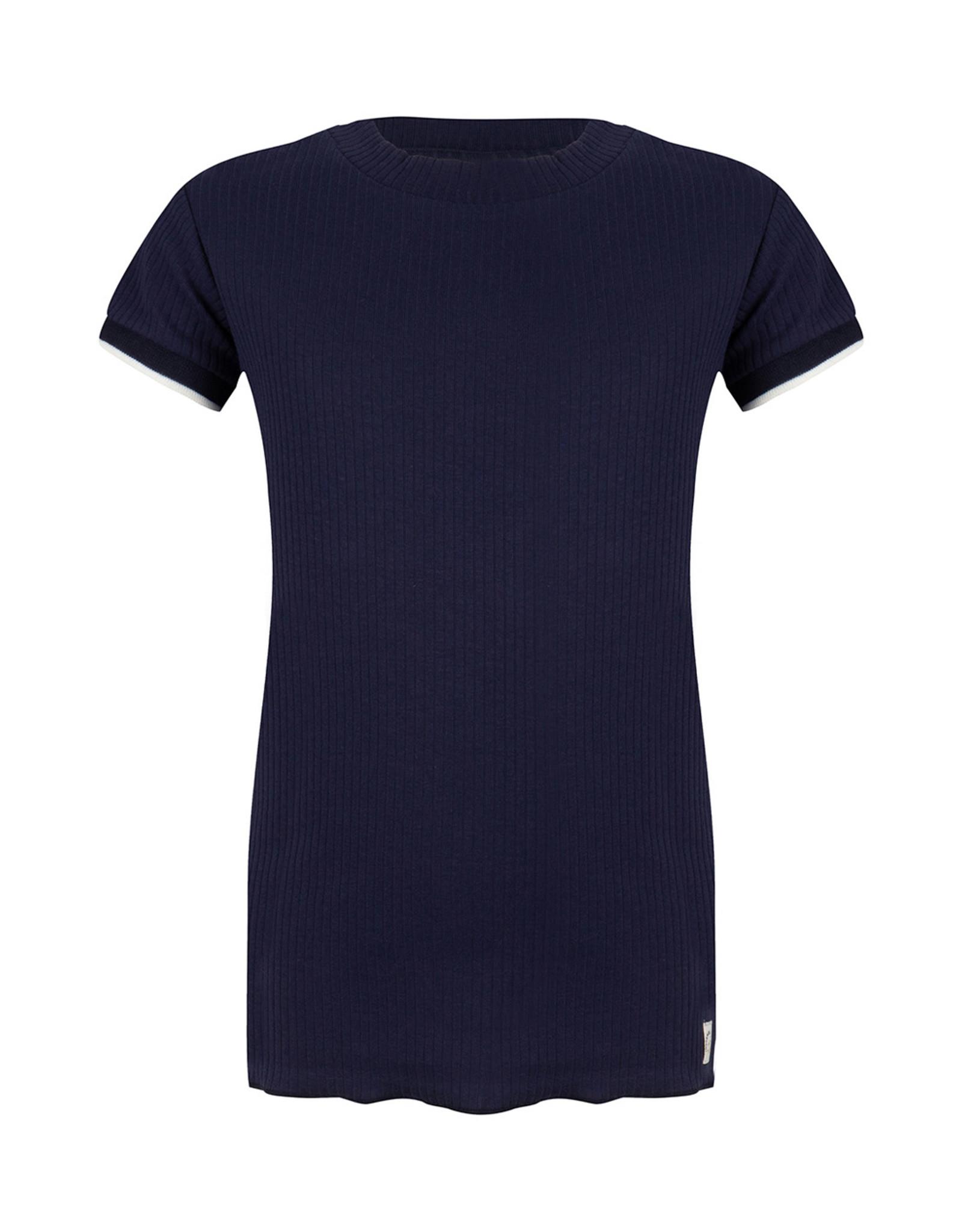 Indian Blue Jeans IBJ geribt t-shirt navy