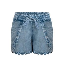Indian Blue Jeans IBJ tencel broekje met denim look