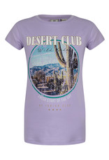 Indian Blue Jeans IBJ lila t-shirt met Desert Club opdruk