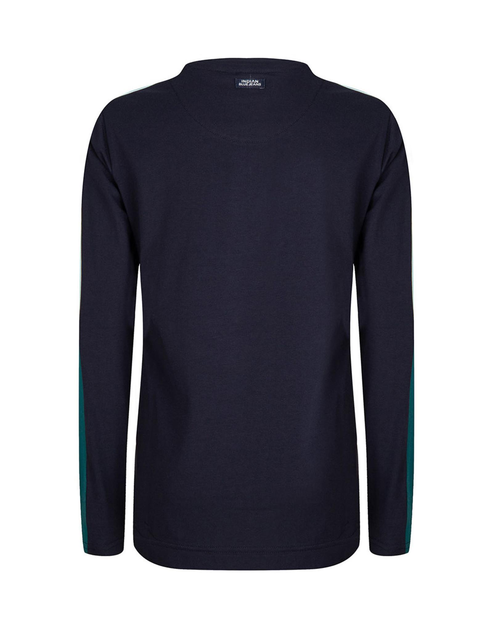 Indian Blue Jeans IBJ navy shirt met lange mouwen