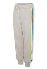 American Outfitters AO joggingbroek lichtgrijs gemêleerd met streep