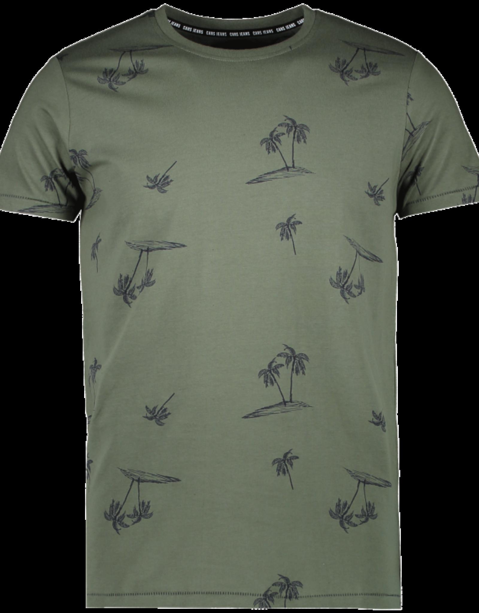 Cars Cars Ruther army groen t-shirt met palmbomenprint