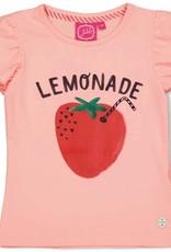 Jubel Jubel roze t-shirt met ruches en 'Lemonade' opdruk
