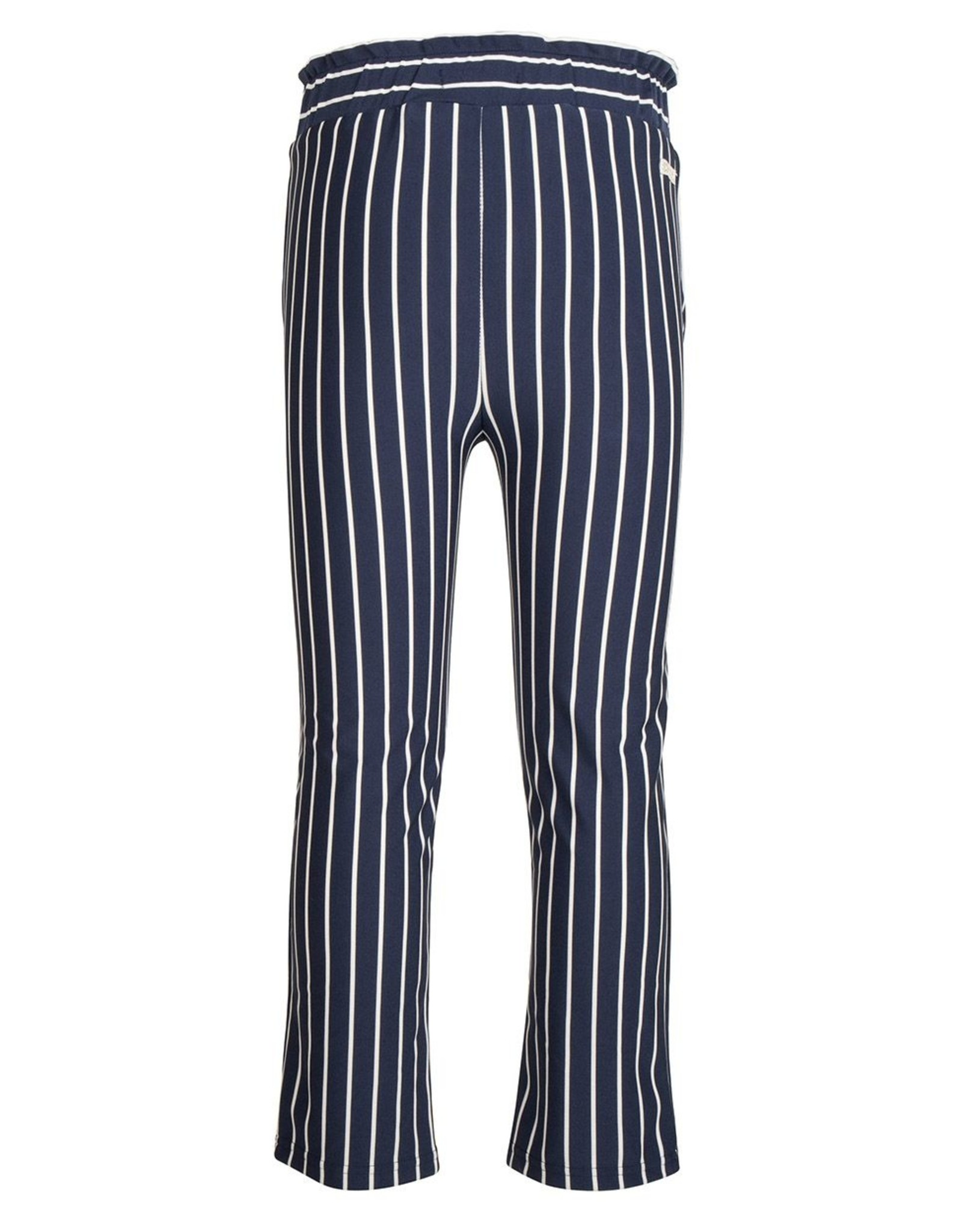 Indian Blue Jeans IBJ navy/wit gestreepte broek
