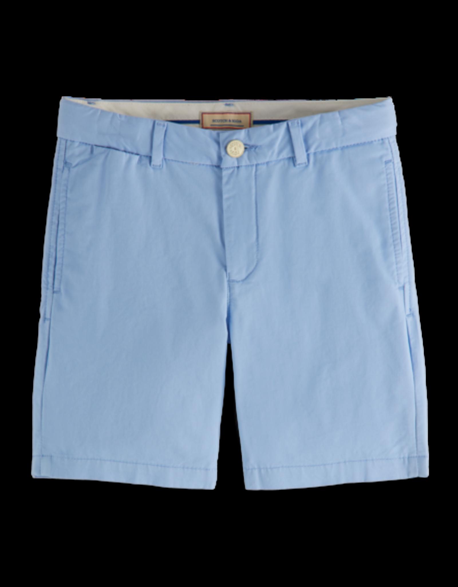 Scotch & Soda Scotch Shrunk chino shorts lichtblauw