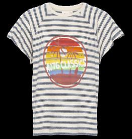 American Outfitters AO t-shirt raglan streep linnen