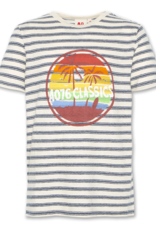 American Outfitters AO t-shirt classic streep blauw