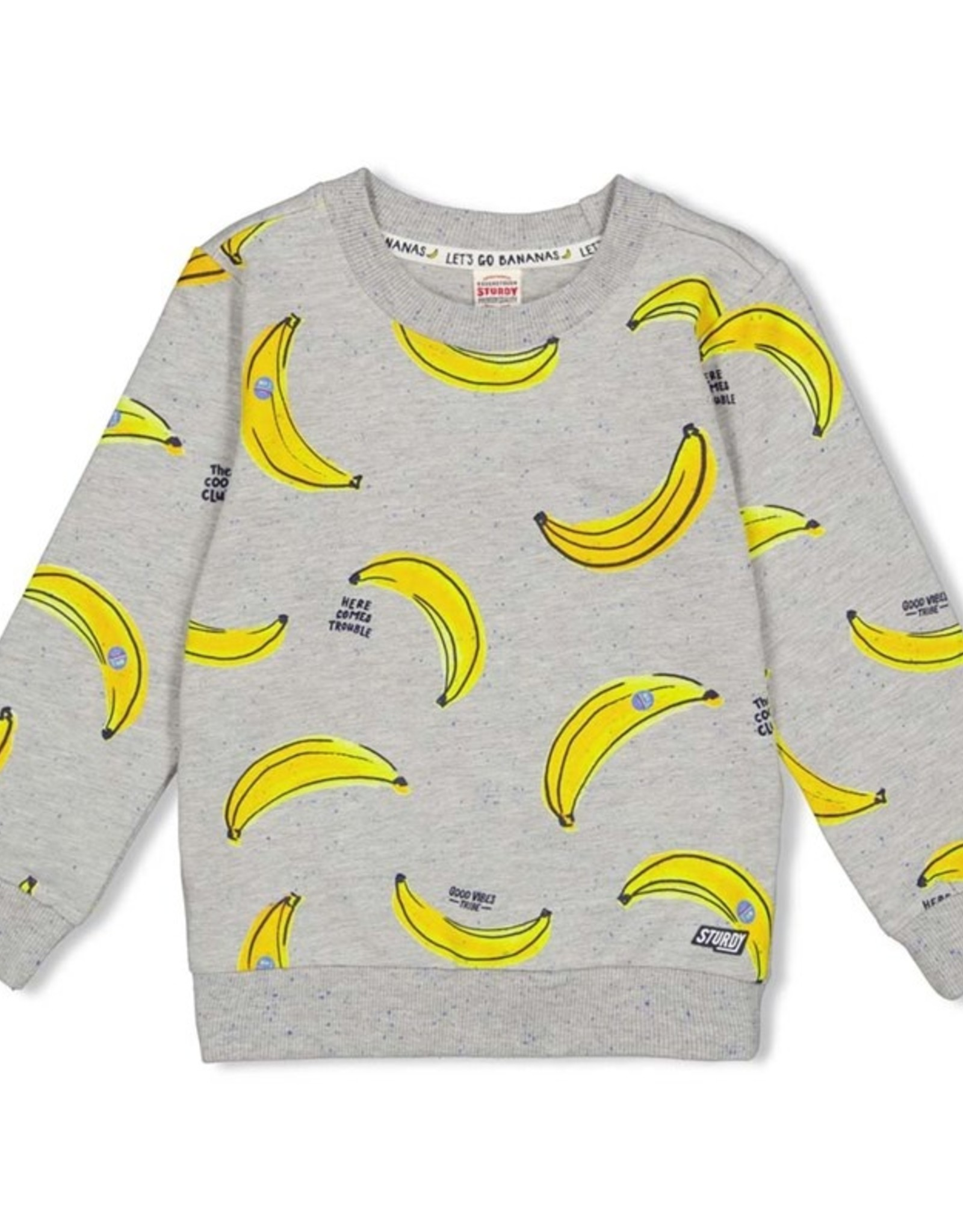 Sturdy Sturdy sweater bananen grey melee