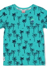 Sturdy Sturdy turkoois t-shirt met palmbomenprint