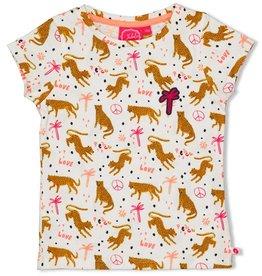 Jubel Jubel wit t-shirt met luipaardprint