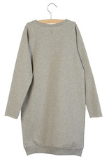 Little Hedonist Little Hedonist Ruth sweatstof jurk grijs