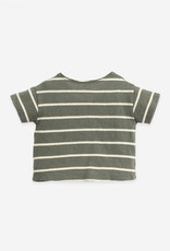 Play Up Play Up gestreept t-shirt cocoon (donker grijsgroen)