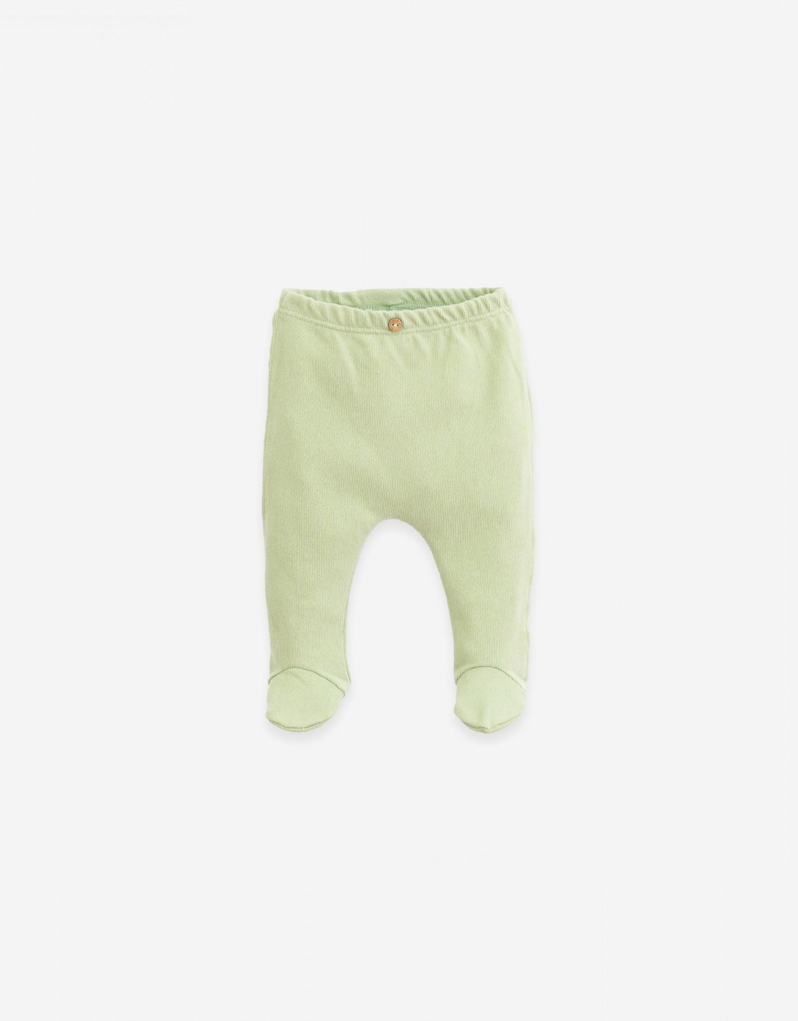 Play Up Play Up set van vestje en broekje met voetjes arminho (pastelgroen)