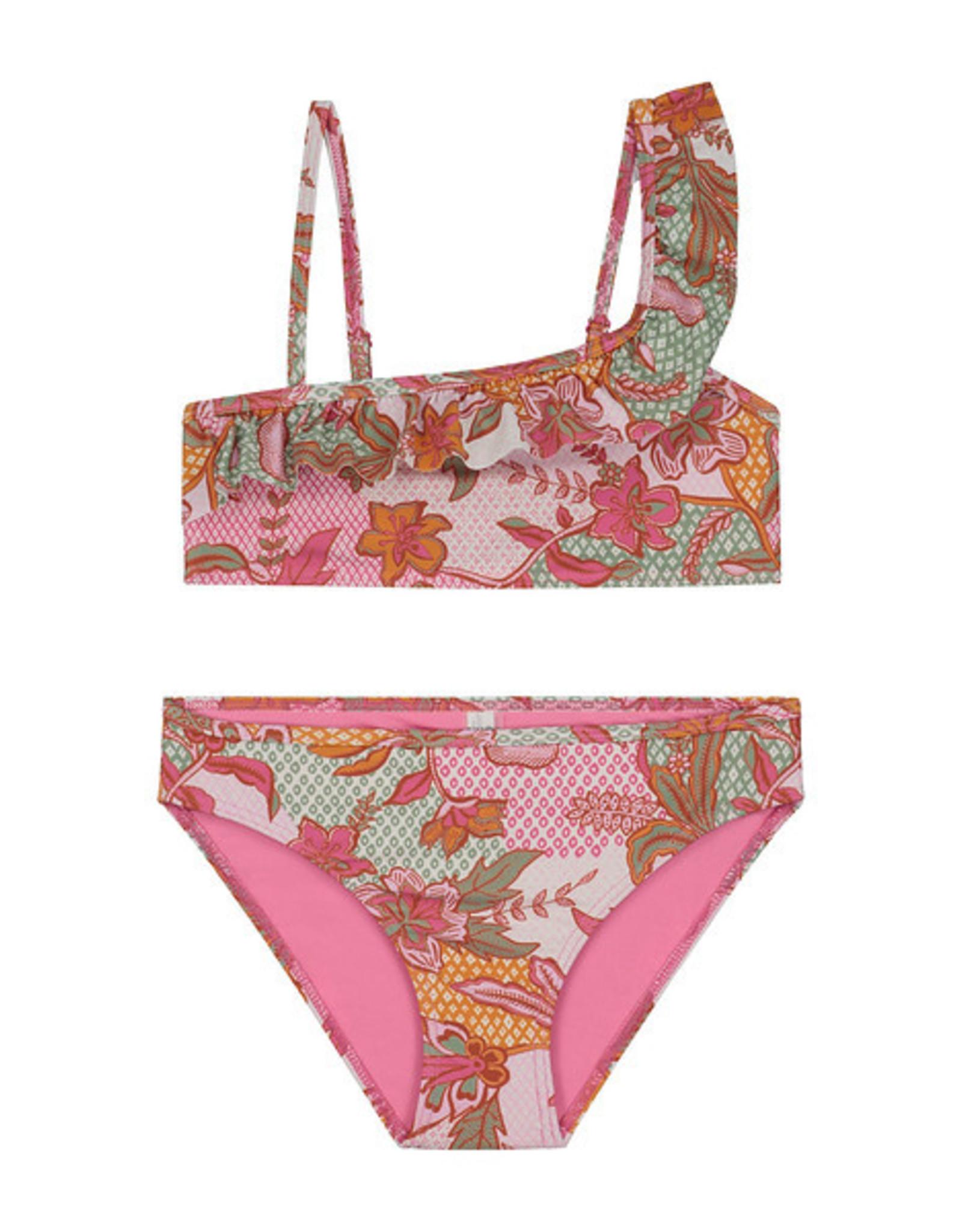 Shiwi Shiwi bikini batik one shoulder scoop top bloemenprint