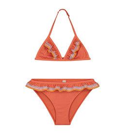 Shiwi Shiwi bikini festival ruffle triangle orange marmelade