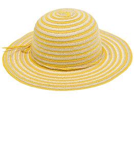 Maximo Maximo zomerhoedje met gele strepen en strikje
