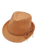 Maximo Maximo zomerhoedje met oranje details en strikje
