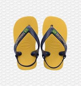 Havaianas Havaianas baby teenslippers brasil logo gold yellow