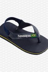 Havaianas Havaianas baby teenslippers brasil logo navy blue/citrus yellow