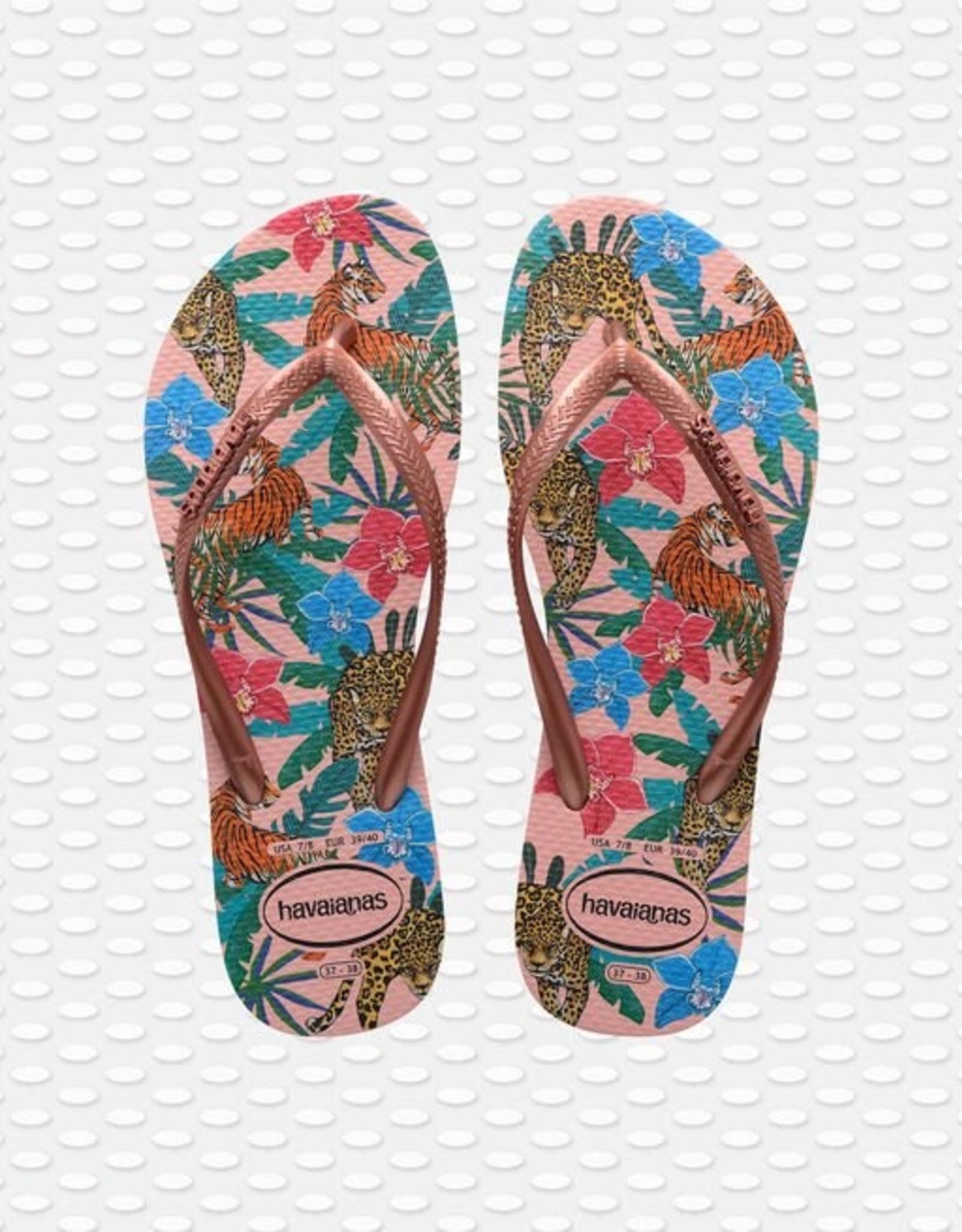Havaianas Havaianas teenslippers slim tropical ballet pink/metallic