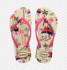 Havaianas Havaianas teenslippers disney white/pink flux