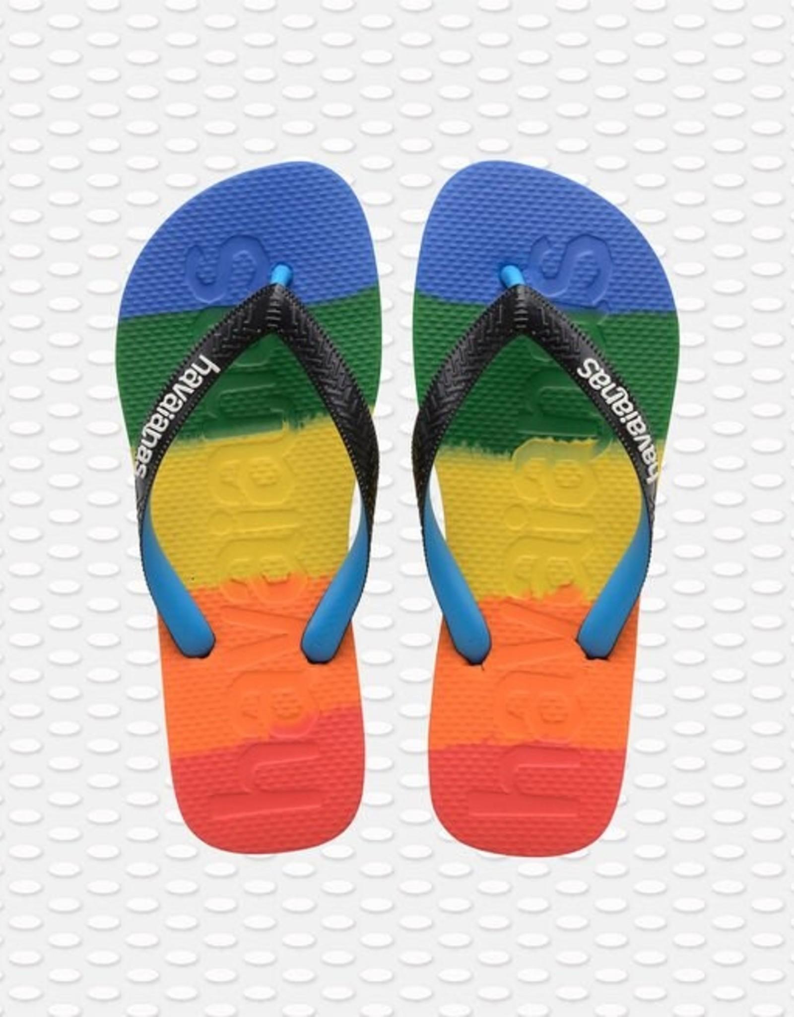Havaianas Havaianas teenslippers logomania gradient rainbow