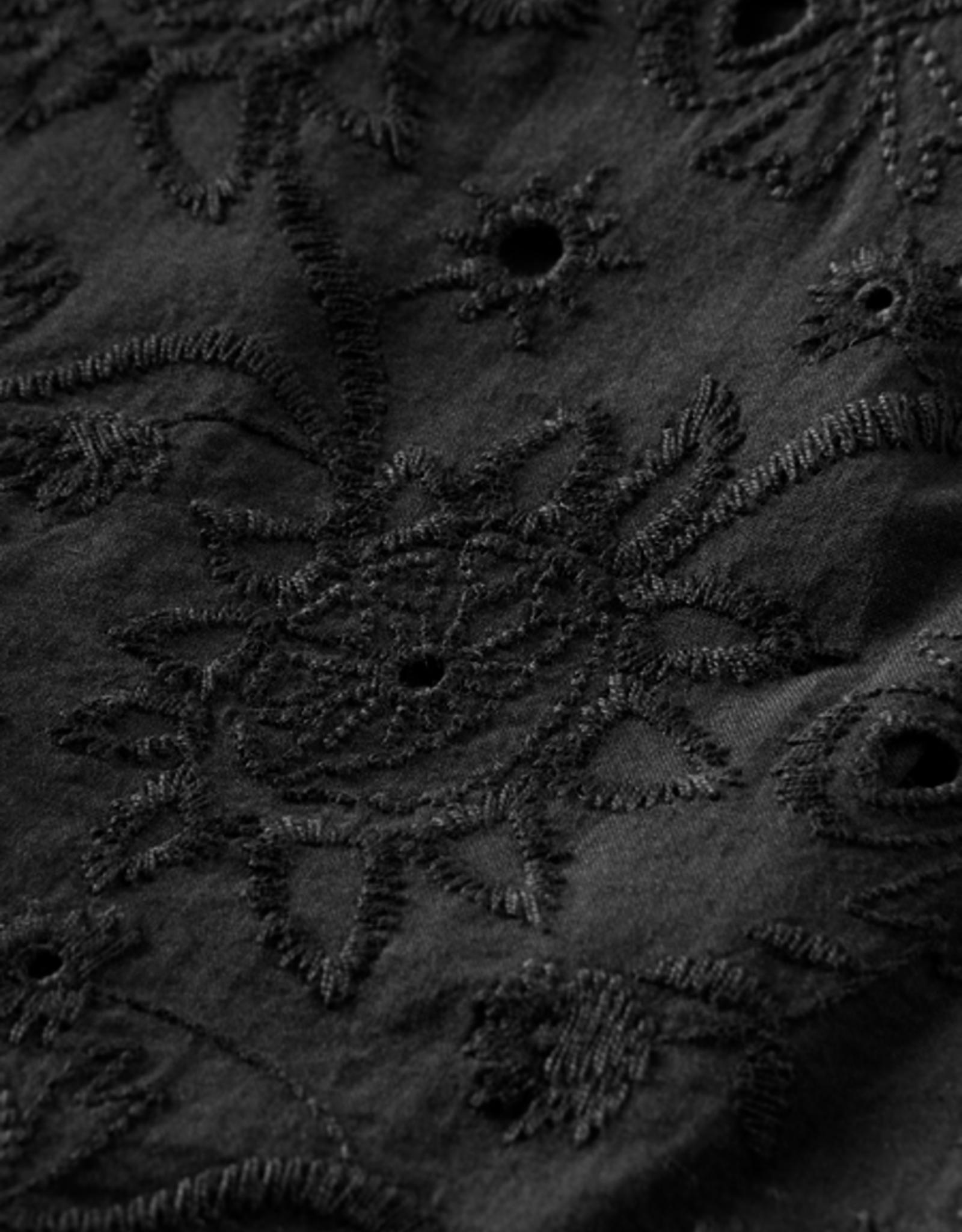 Scotch & Soda Scotch  R'Belle zwart rokje met borduurwerk