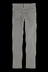 Scotch & Soda Scotch R'Belle off-white/zwart gestreepte skinny broek