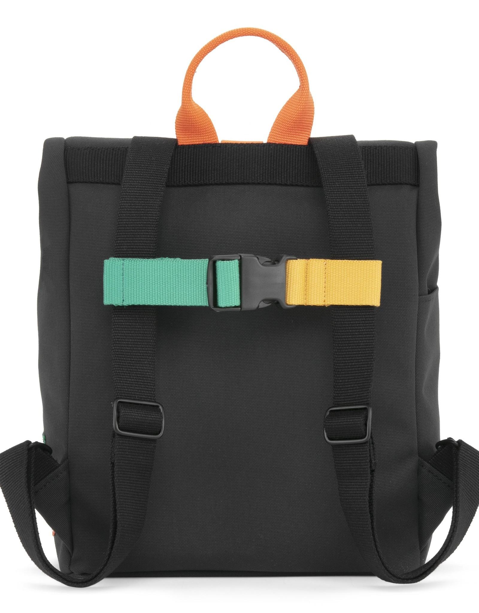 Dusq Dusq 'Mini Bag' Canvas Rugtas Night Black